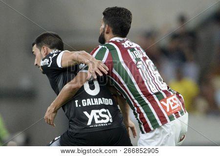 Rio, Brazil - November 03, 2018: Thiago Galhardo Player In Match Between Fluminense And Vasco By The