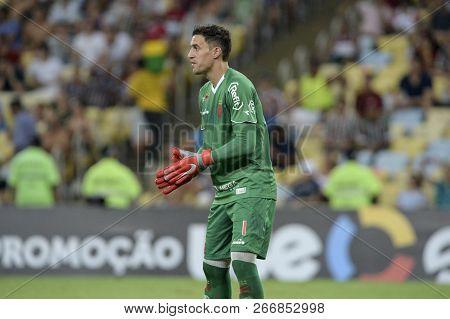 Rio, Brazil - November 03, 2018: Martin Silva Goal Keeper In Match Between Fluminense And Vasco By T