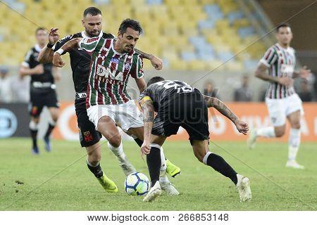 Rio, Brazil - November 03, 2018: Match Between Fluminense And Vasco By The Brazilian Championship In