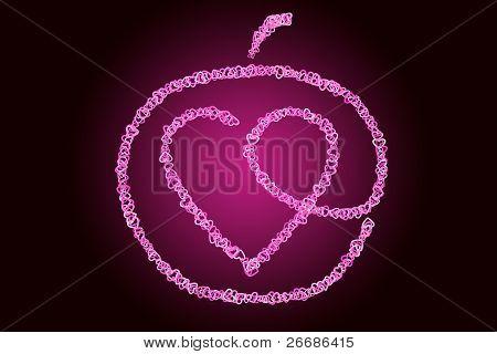 Heart Inside Of An Apple