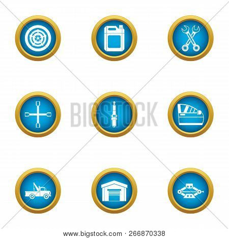 Home Workshop Icons Set. Flat Set Of 9 Home Workshop Icons For Web Isolated On White Background