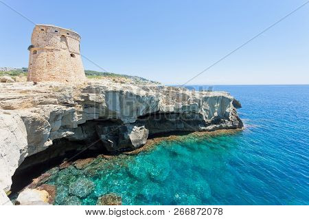 Torre Die Miggiano, Apulia, Italy - Swimming At The Defense Tower Of Miggiano