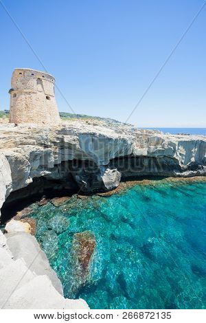Torre Die Miggiano, Apulia, Italy - Relaxing In The Sunshine Near Torre Di Miggiano