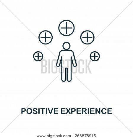 Positive Experience Outline Icon. Premium Style Design From Project Management Icons Collection. Sim