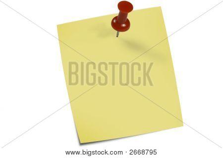 Yellow Memo Pin