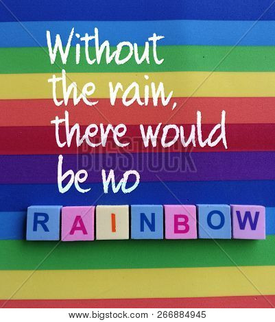 Quotes on rainbow and rain
