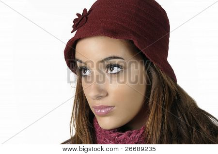 Woman With A Red Wool Cap