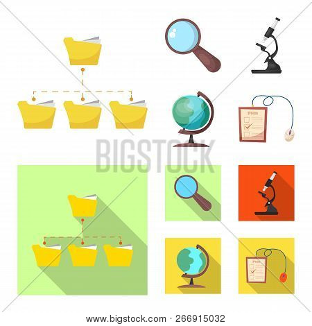 Isolated Object Of Education And Learning Sign. Collection Of Education And School Stock Symbol For