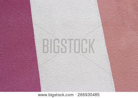 Painted White And Pink Plaster Close-up, Texture, Background