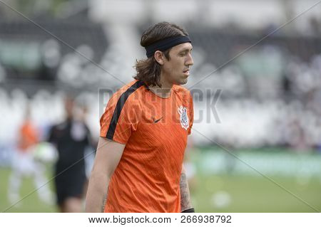 Rio, Brazil - November 04, 2018: Cassio Player In Match Between Botafogo And Corinthians By The Braz