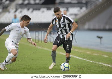 Rio, Brazil - November 04, 2018: Rodrigo Pimpão Player In Match Between Botafogo And Corinthians By