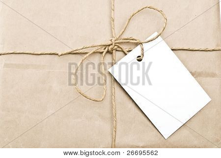 Carton box post package with clipping path