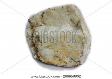The Feldspar Stone Isolate On White Background