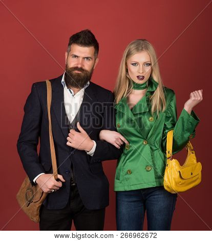 Fashion And Beauty. Autumn Street Style. Love Relations. Autumn Fashion Trends. Couple In Love In Fa