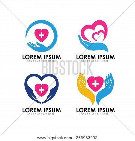 Healthy Care Logo Design. Heart Care Logo Design. Love Care Logo
