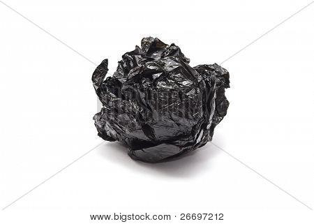 Scrunched rubbish bag