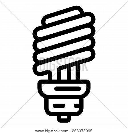 Economy Bulb Icon. Outline Economy Bulb Vector Icon For Web Design Isolated On White Background
