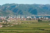 Pogradec is a city in southeastern Albania situated on the shores of Ohrid lake poster