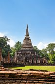 UNESCO World Heritage site Wat Chang Lom in Si Satchanalai Historical Park, Sukhothai, Thailand. poster
