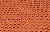 a red tiled terracotta roof poster