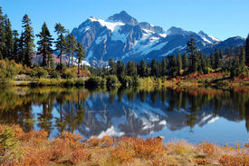 Picture Lake At Fall