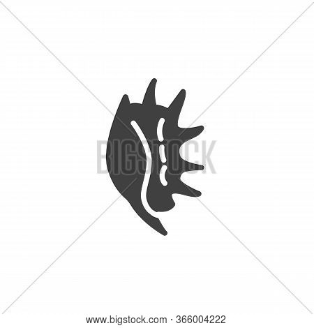 Tropical Seashell Vector Icon. Filled Flat Sign For Mobile Concept And Web Design. Exotic Shellfish