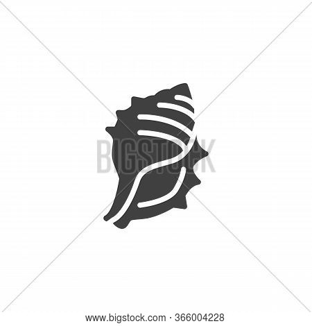 Spiral Shellfish Vector Icon. Filled Flat Sign For Mobile Concept And Web Design. Tropical Seashell