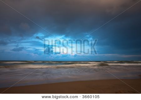 Stormy Weather On Sea