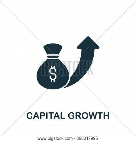Capital Growth Icon From Investment Collection. Simple Line Capital Growth Icon For Templates, Web D