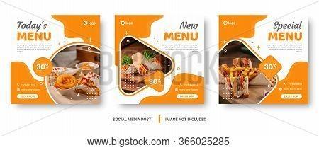 Yellow And White Vertical Food Menu Social Media Post.