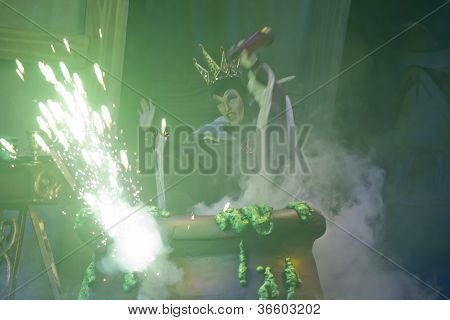 Wicked Witch Casting Spell Expodes