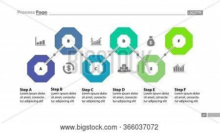 Six Steps Flowchart Template Design. Element Of Chart, Diagram, Presentation. Concept For Annual Rep