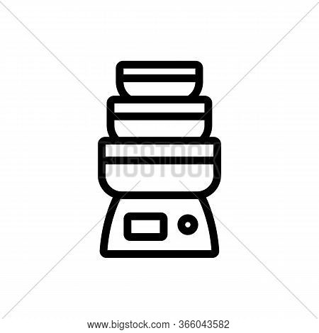 Multi Level Steam Cooker For Healthy Food Icon Vector. Multi Level Steam Cooker For Healthy Food Sig