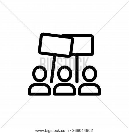 Election Rally People Holding Signs Icon Vector. Election Rally People Holding Signs Sign. Isolated