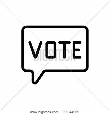 Thought Vote Icon Vector. Thought Vote Sign. Isolated Contour Symbol Illustration