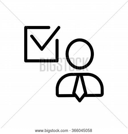 Voting For Politics Icon Vector. Voting For Politics Sign. Isolated Contour Symbol Illustration