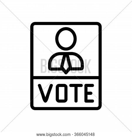 Political Voting Booklet Icon Vector. Political Voting Booklet Sign. Isolated Contour Symbol Illustr
