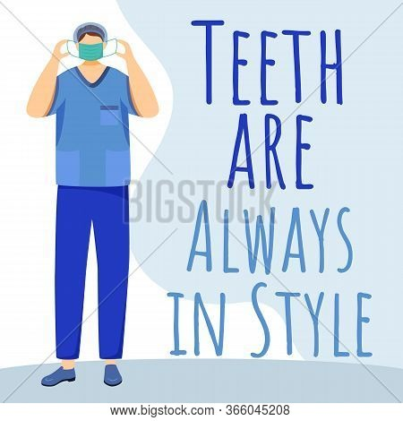 Teeth Are Always In Style Social Media Post Mockup. Dental Care. Advertising Web Banner Template. St