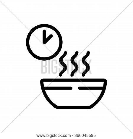 Waiting Time Cooking Porridge Icon Vector. Waiting Time Cooking Porridge Sign. Isolated Contour Symb