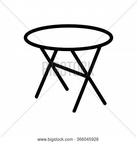 Cross Legged Round Table Icon Vector. Cross Legged Round Table Sign. Isolated Contour Symbol Illustr