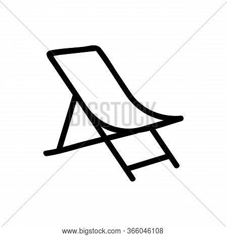 Sagging Fabric Chaise Longue Icon Vector. Sagging Fabric Chaise Longue Sign. Isolated Contour Symbol