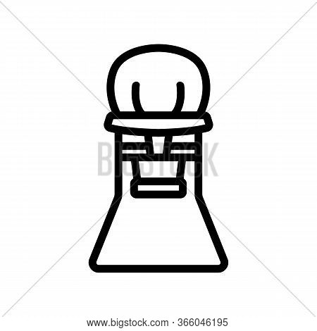Baby Chair Booster For Feeding Icon Vector. Baby Chair Booster For Feeding Sign. Isolated Contour Sy