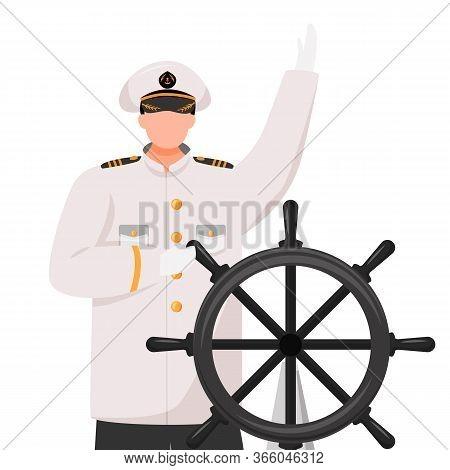 Captain Flat Vector Illustration