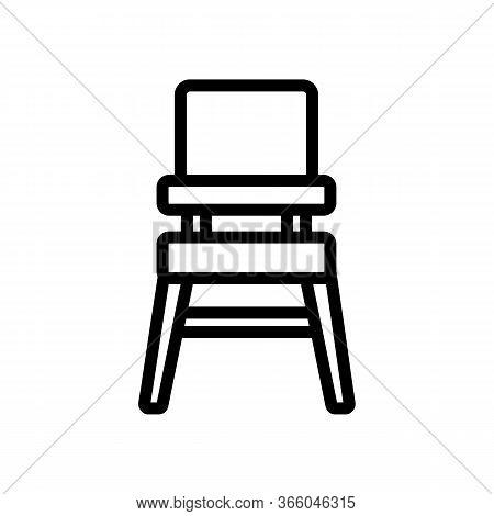 Transformer Chair For Feeding Icon Vector. Transformer Chair For Feeding Sign. Isolated Contour Symb