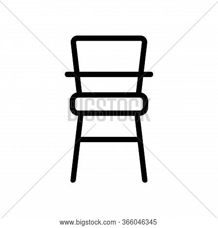 Classic Wooden Chair For Feeding Icon Vector. Classic Wooden Chair For Feeding Sign. Isolated Contou