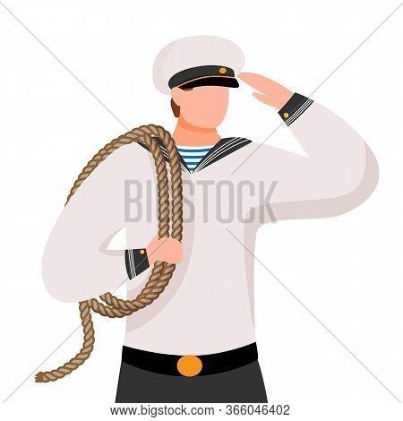 Sailor Flat Vector Illustration
