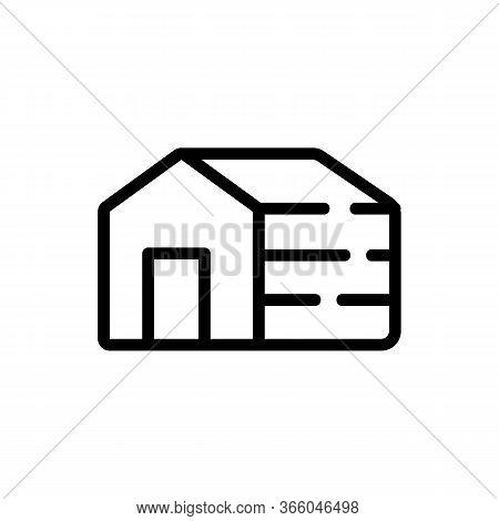 Sleeping Dog House Icon Vector. Sleeping Dog House Sign. Isolated Contour Symbol Illustration