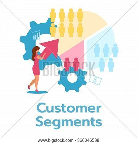 Customer Segment Flat Vector Illustration. Business Model. Marketing Target Audience. Consumer Segme