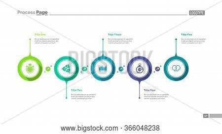 Workflow Visualization Slide Template. Business Data. Graph, Diagram. Creative Concept For Infograph