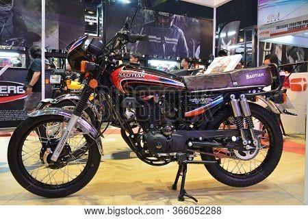 Pasay, Ph - Mar 24 - Baotian Cg 125 Motorcycle At Inside Racing Motor Bike Festival And Trade Show O